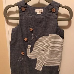 Mud pie baby 6-9 month elephant romper